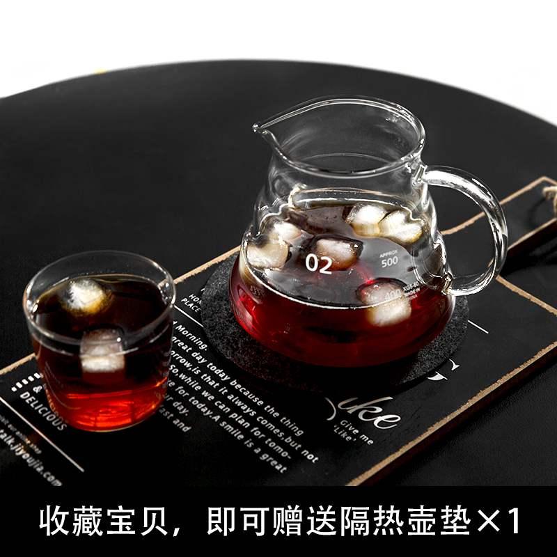 ゔ✌เครื่องชงกาแฟมือMoka pot หม้อต้มกาแฟมือสอง 2 วาล์วทำหม้อกาแฟในครัวเรือนชุดหม้อกาแฟแก้วปากยาวหยดในตัว