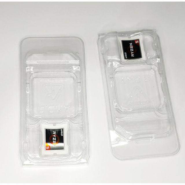 กล่องพลาสติกใส่ Cpu Amd Ryzen แท้พร้อมสติ้กเกอร์แท้ Ryzen ของแท้จากกล่อง Ryzen 100%.
