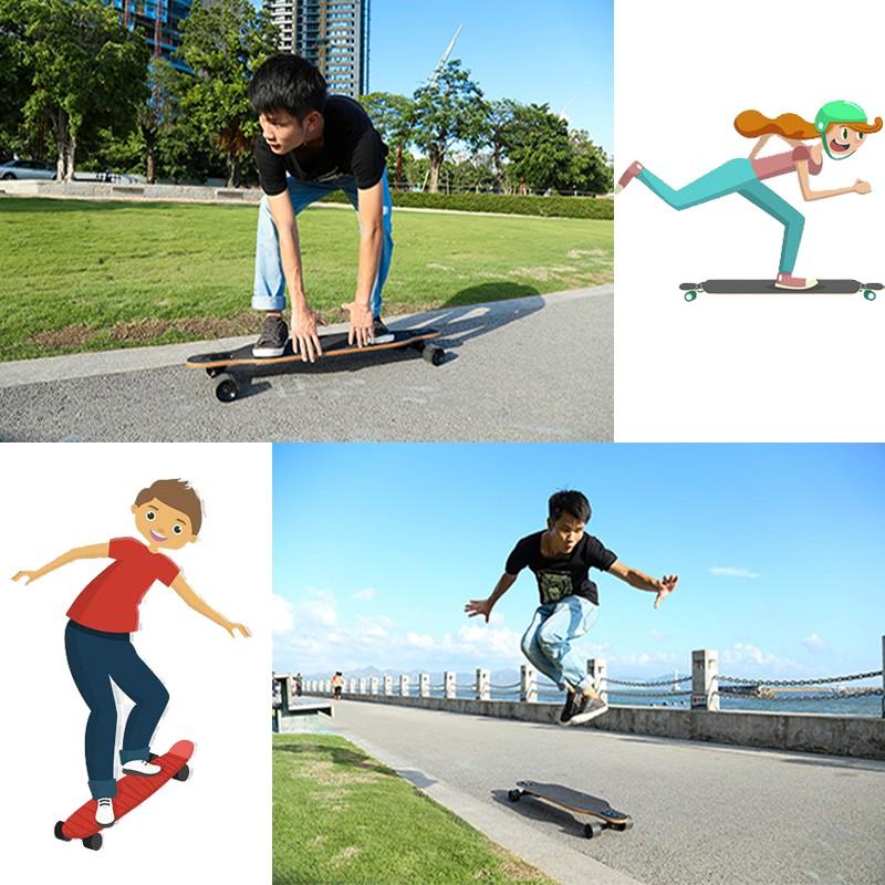 สเก็ตบอร์ด 80cm สเก็ตบอร์ดผู้ใหญ่ สเกตบอร์ด สเก็ตบอร์ดเด็ก สเก็ตบอร์ดยาว สำหรับเริ่มต้นและทั่วไป skateboards Cometobuy