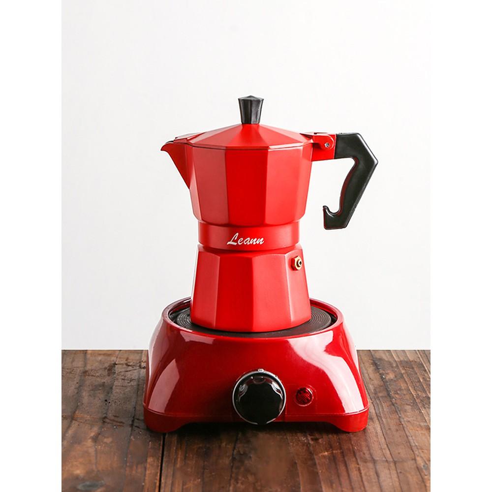 เครื่องบดกาแฟ❁✜™เครื่องชงกาแฟ Moka pot เครื่องทำกาแฟชุดเครื่องชงกาแฟอิตาลีขนาดเล็กอิตาลี