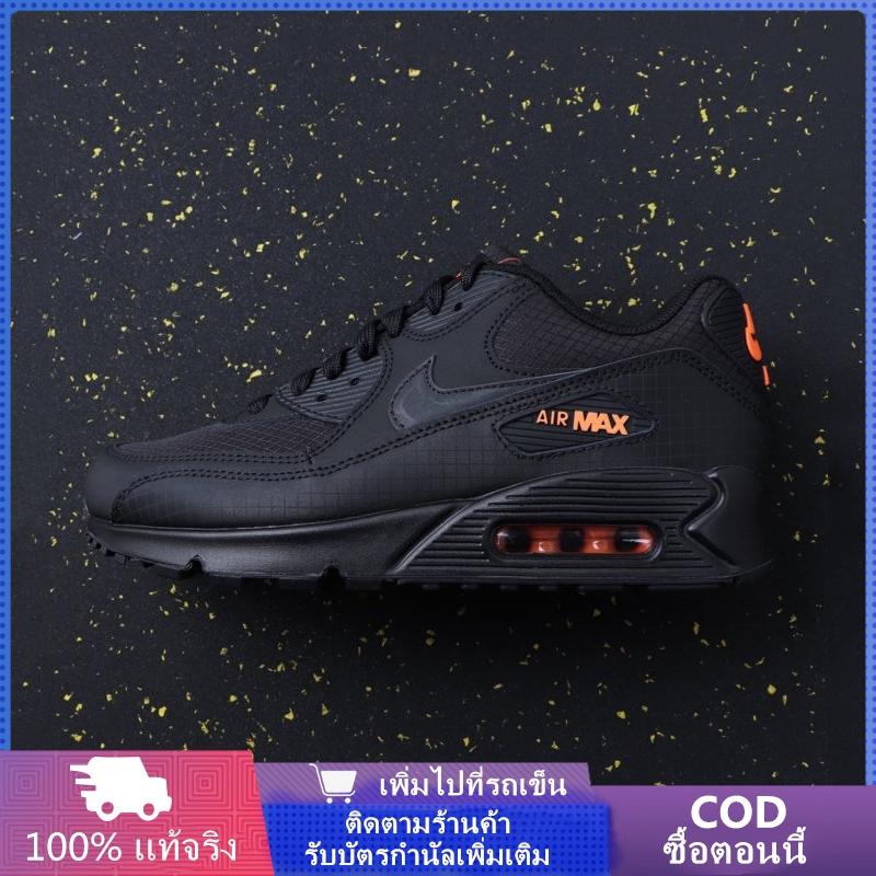 Original แท้ 100%Nike Air Max 90 รองเท้าลำลองใหม่ รองเท้าวิ่ง รองเท้าเบาะลม{1st สีดำ}{2nd เทาเข้ม}