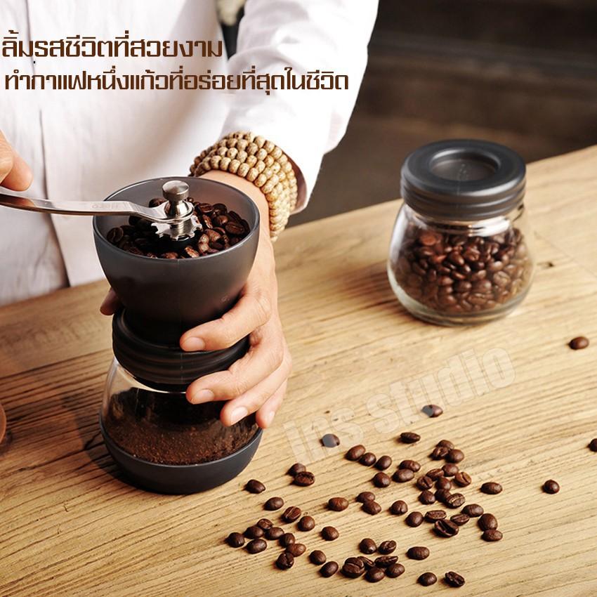 เมล็ดกาแฟ เครื่องบด Espresso เครื่องทำกาแฟ เครื่องบดกาแฟ ที่บดเมล็ดกาแฟ เครื่องบดกาแฟพกพา เครื่องบดกาแฟด้วยมือ Coffee Gr