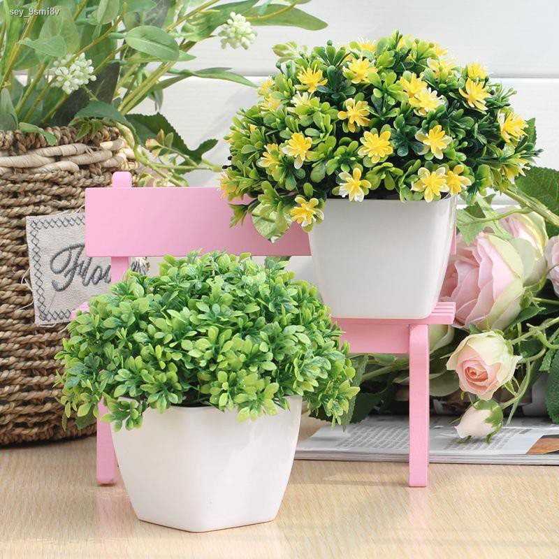 การจำลองพันธุ์ไม้อวบน้ำ№┅☋ดอกไม้ปลอมและเครื่องประดับหญ้าสีเขียวจำลอง ตกแต่งพลาสติกดอกไม้พืชร้านอาหารกระถางสดขนาดเล็ก ห้อ