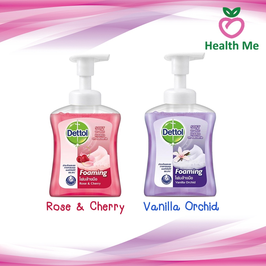 ❁Dettol Foaming Hand Wash 250ML (Rose & Cherry / Vanilla Orchid) เดทตอล สบู่ โฟมล้างมือผลิตภัณฑ์ดูแลมือเจลล้างมือ🎀✨🎗