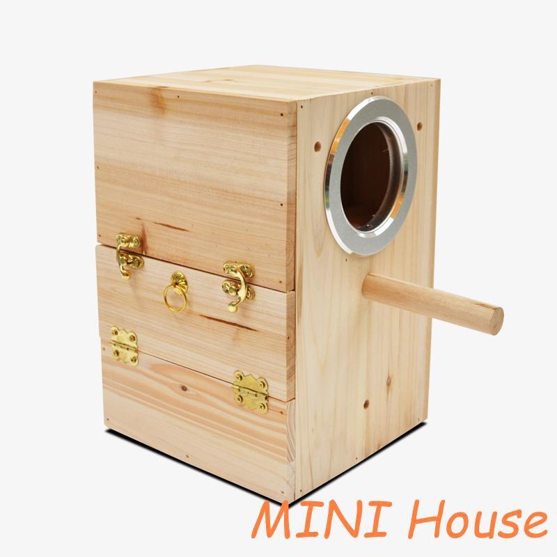 [Cage]สัตว์เลี้ยงนกกล่องเพาะพันธุ์นกแก้วขนาดเล็กและขนาดกลางรังนกแก้วนกกล่องเพาะพ