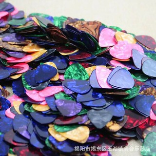 Review ส่วนลด ปิ๊กกีตาร์ 100PCS  Acoustic Electric Guitar Celluloid Picks Plectrum