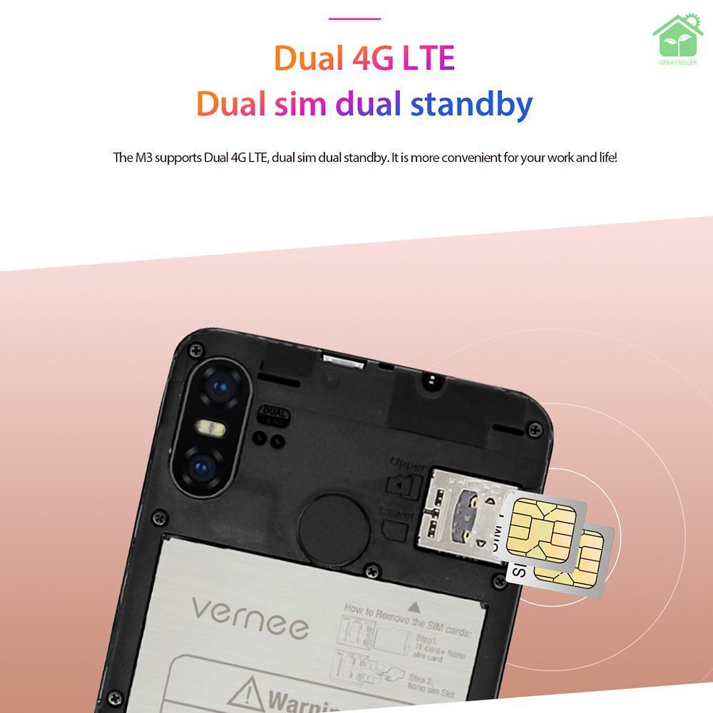 สมาร์ทโฟน Vernee M 3 5 . 5 นิ้ว Id 3gb Ram 32 Gb Rom Android 8 . 1 Mtk 67339 Quad Core 13 Mp 4 G Lte