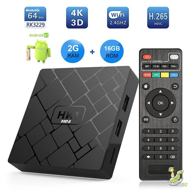 W95 8G Smart Android 7.1 TV BOX Amlogic S905W Quad Core H.265 WiFi 4K Media N2L1