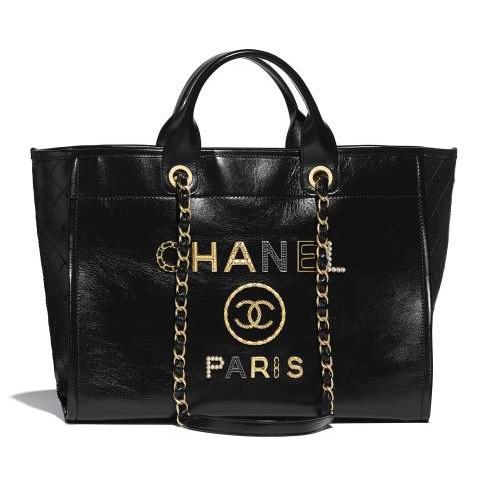 Chanel / แบบใหม่ / กระเป๋าใบใหญ่ / ทรงคลาสสิค / กระเป๋าช้อปปิ้ง / กระเป๋าเดินทาง / กระเป๋าสะพายผู้หญิง / ของแท้ 100%