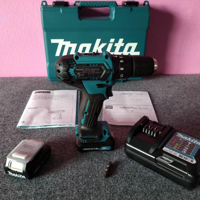 สว่านไร้สายกระแทก Makita แท้ HP333DWYE 12v. Max 10mm. 3/8