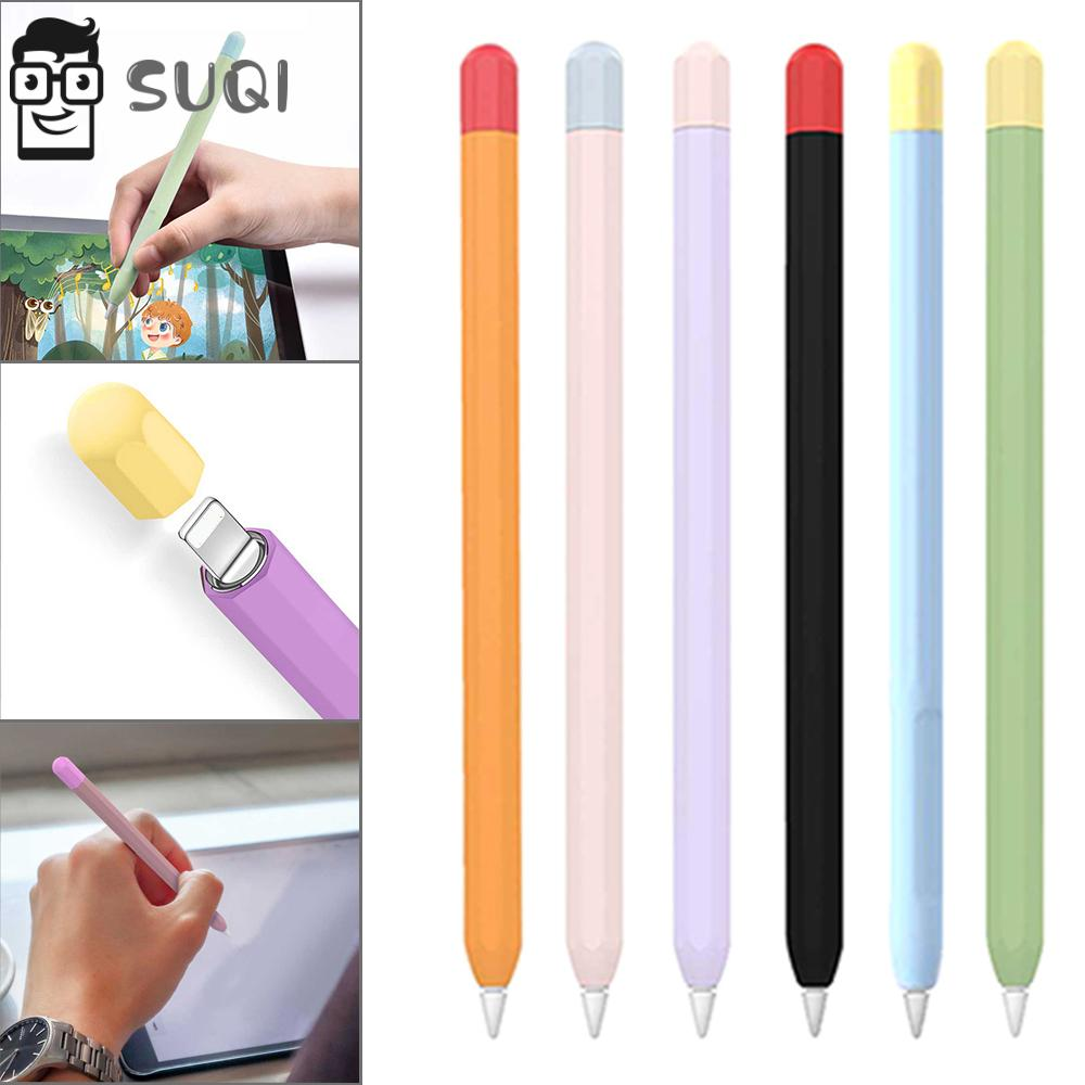 SUQI Candy Color Soft Silicone Non Slip Pen Protective Case Cover For Apple Pencil 1st And 2nd Gen