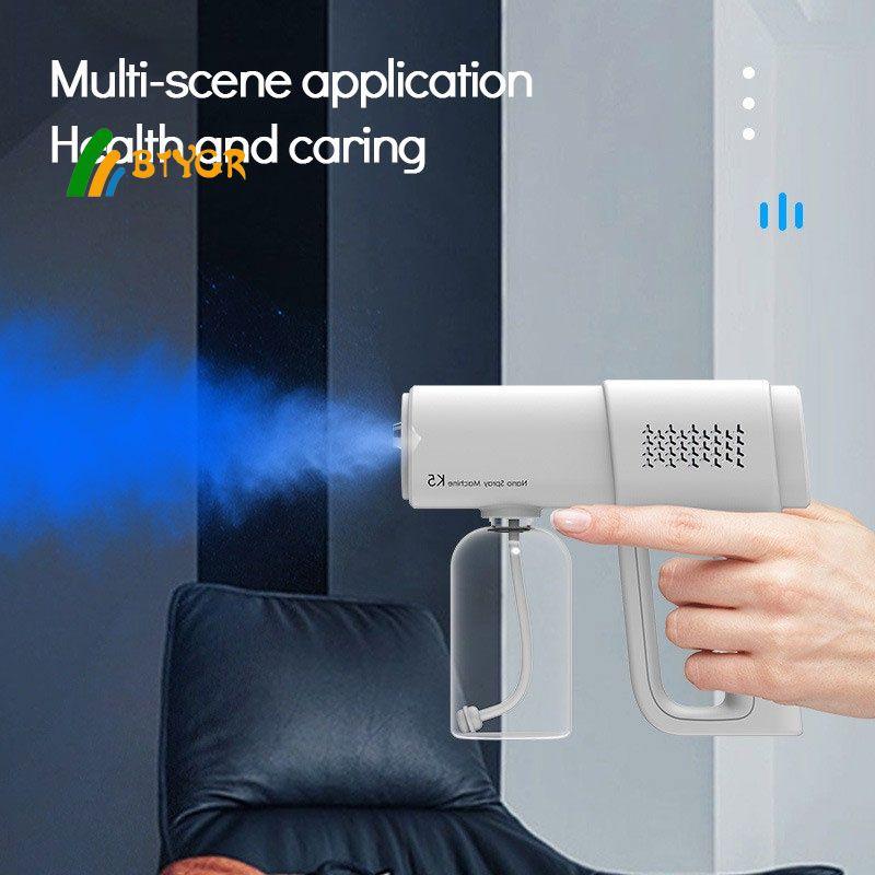 K5 nano spray gun blue light disinfection sprayer rechargeable atomization disinfection gun BTYGR