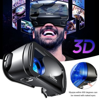 【Ready Stock】 3D VR Glasses VRG PRO Head-Mounted VR Headset Glasses Focus Adjustment Travel Multifunctional Mobile Phone