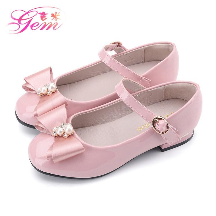 รองเท้าคัชชู ประดับมุก สไตล์เกาหลี สำหรับเด็กผู้หญิง