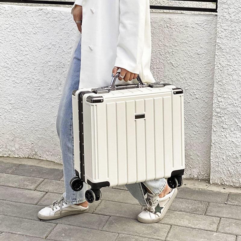 กระเป๋าเดินทางขนาดเล็ก 18 นิ้ว 18 นิ้วแบบพกพาสําหรับผู้ชายและผู้หญิง