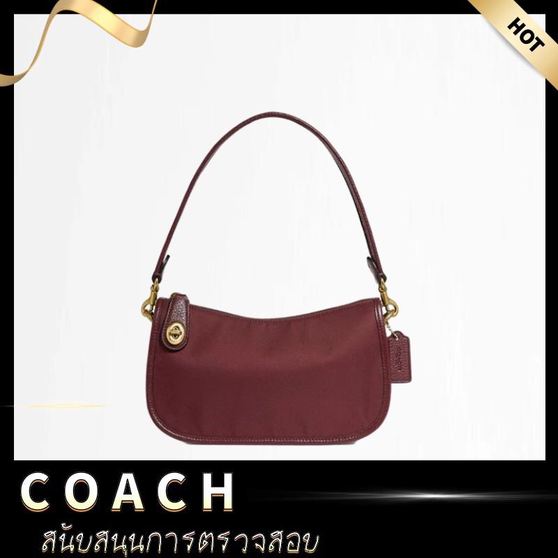 [ลดราคา KK & COACH] COACH COACH Ladies Retro New SWINGER Series Underarm Bag Shoulder Bag กระเป๋าสะพายข้างA