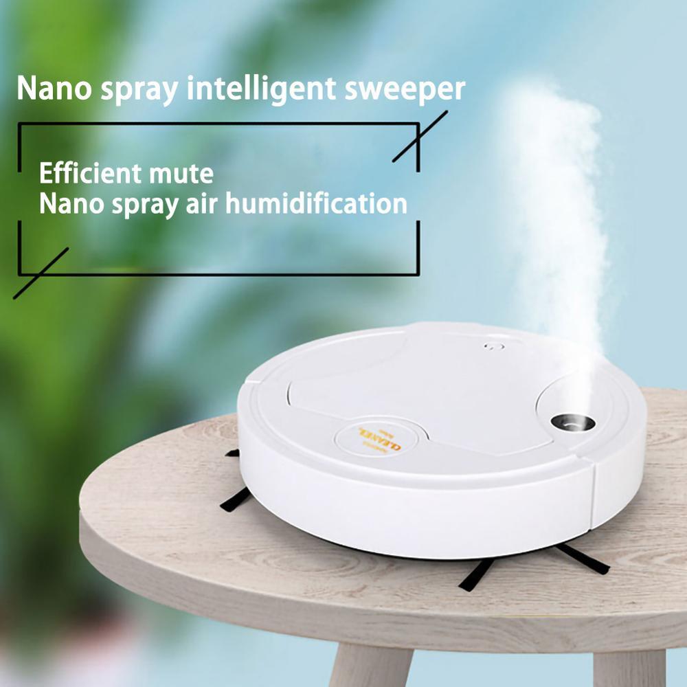 หุ่นยนต์ดูดฝุ่น พร้อม Nano Spray ฆ่าเชื้อโรคด้วยไอน้ำ ถูพื้นอัตโนมัติ  เครื่องทำความสะอาดอัตโนมัติ