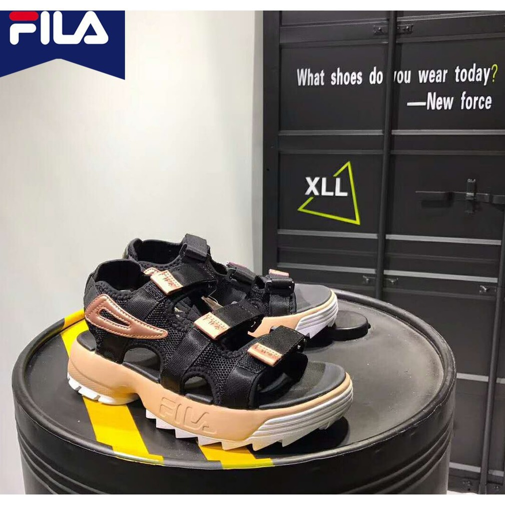 [jinggaoa]Fila DISRUPTOR 2 รองเท้าแตะสำหรับผู้ชายผู้หญิง
