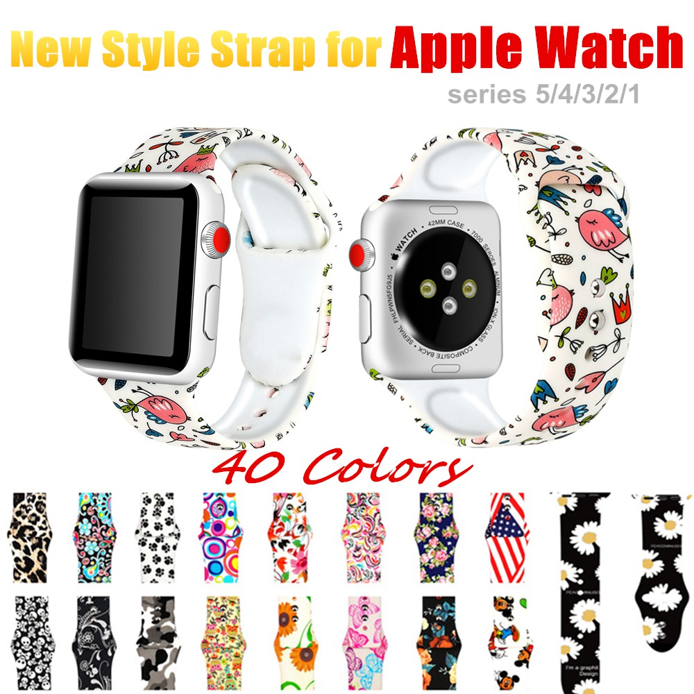 Silicone strap for Apple Watch band 44mm 40mm 42mm 38mm women iwatch bracelet for apple Watch series 5 4 3 band ihCu