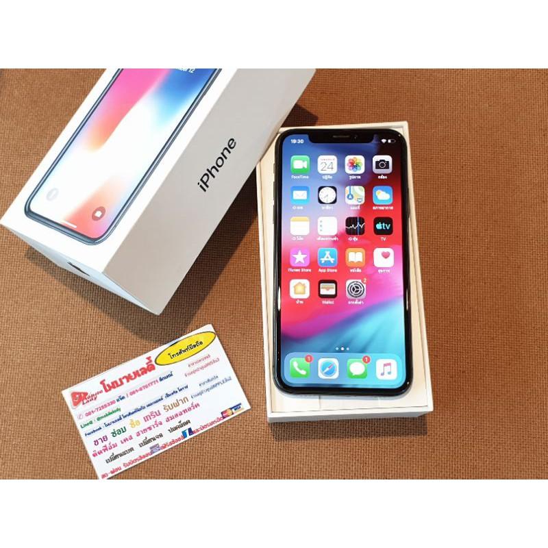 #IPhoneX 64gb สีดำ เครื่องไทย มือสอง