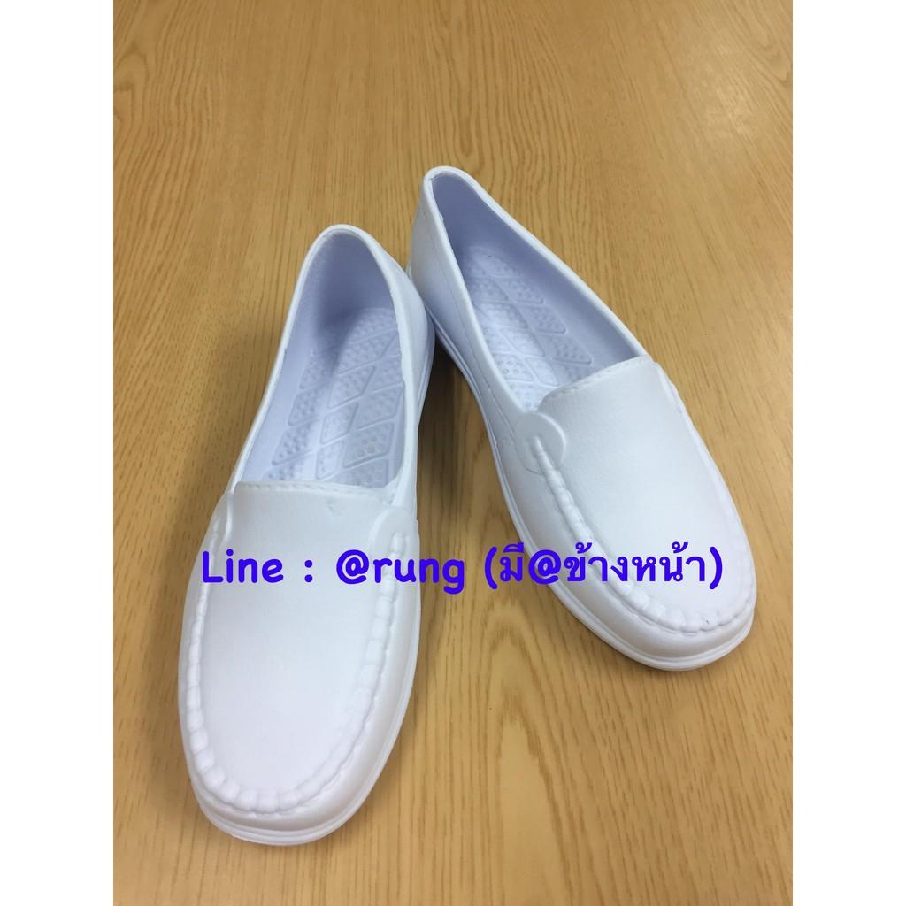 รองเท้าพยาบาล รองเท้าคัชชู คัชชูสีขาว คัชชูสีดำ รองเท้าผู้หญิง รองเท้าส้นแบน