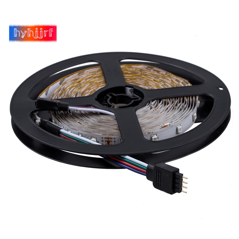 2X5M 3528 SMD RGB 600 LED Lighting Strips 12V 44 Key Remote Controller for Room