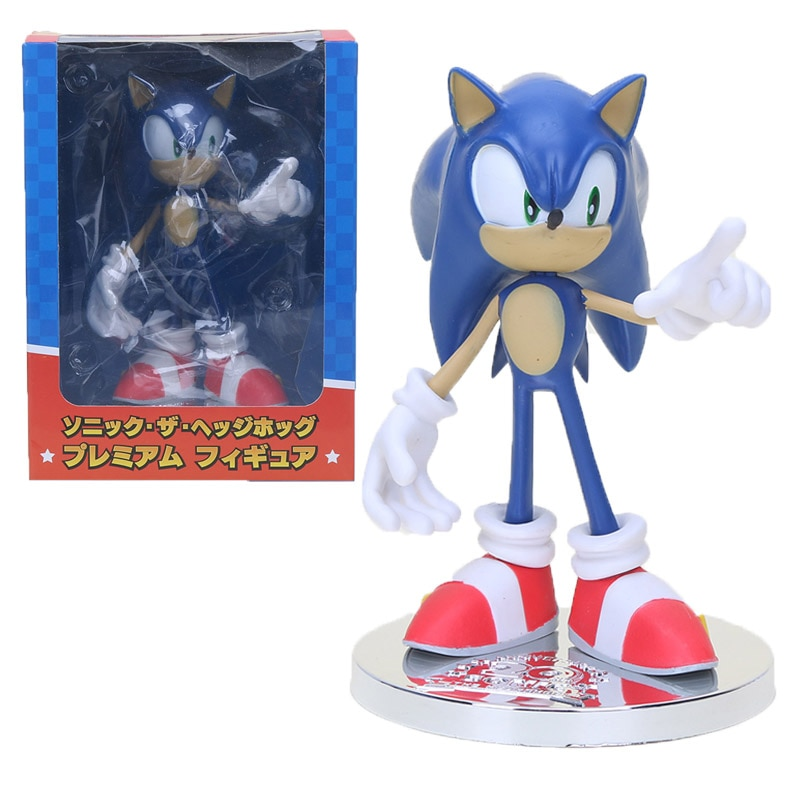 18cm Sonic Figure  20th Anniversary Sonic the hedgehog Figure Dolls Super Sonic Collectible Model Toys