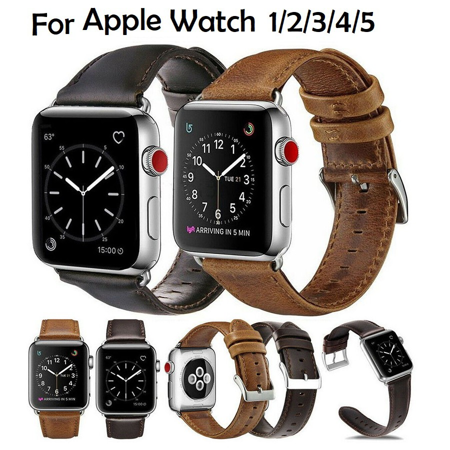 Apple Watch สายนาฬิกา Leather Strap for Iwatch สาย Apple watch Series 6 5 4 3 2 1,Apple Watch SE สายนาฬิกา applewatch Strap size 38mm 40mm 42mm 44mm