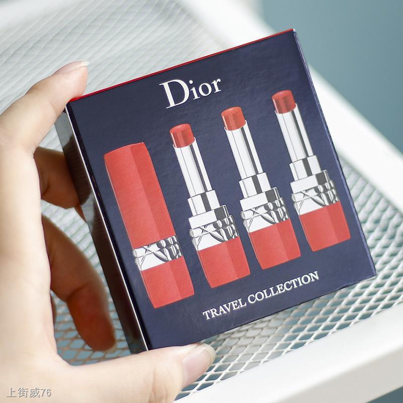 ✿☎กล่องของขวัญ 3 ชิ้น Dior / lipstick หลอดสีแดง 999/641/436 ของแท้กึ่งด้าน