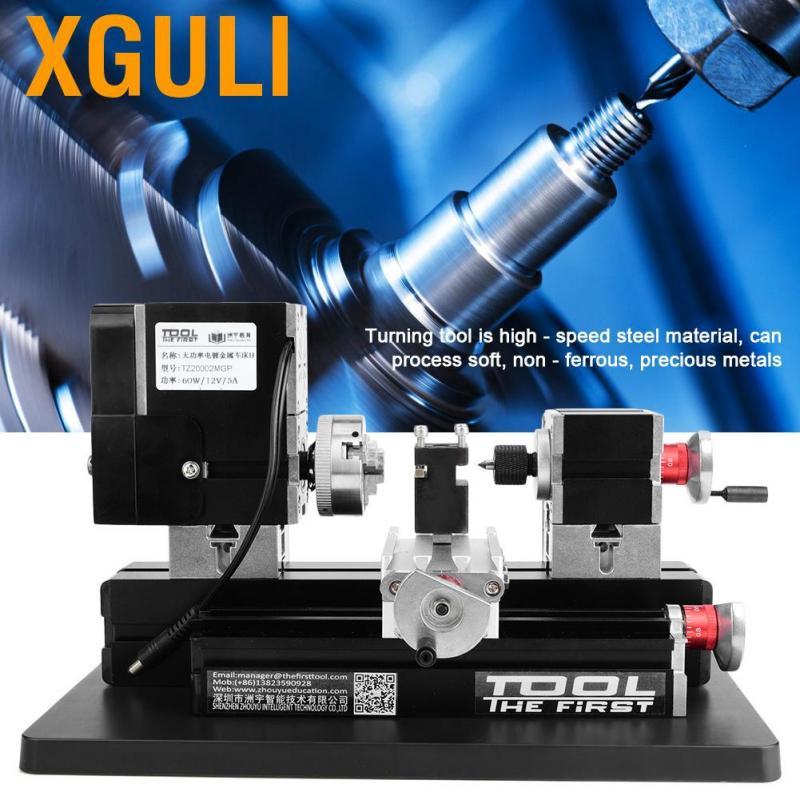 【ของแท้ #พร้อมส่ง】เครื่องกลึงไม้ขนาดเล็ก TZ20002MGP มินิเครื่องกลึงโลหะ เครื่องกลึงสำหรับไม้  12VDC/5A/60W  12000 รอบต่อนาที 60W High Power Mini Metal Lathe Woodworking Machine US Plug 100-240V