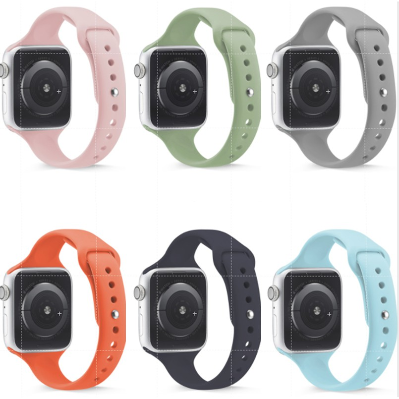 JXLB003 ซิลิก้าเจล apple watch Strap iwatch series SE 6 5 4 3 2 1  สาย applewatch ความยาว 38 40 42 44mm