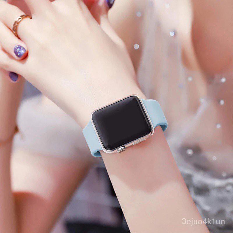 สายซิลิโคนสำรองเปลี่ยน สาย สําหรับ Apple Watch Series 1/2/3/4/5/6 สาย สําหรับApplewatch iWatch สาย 38mm 40mm 42mm 44mm z