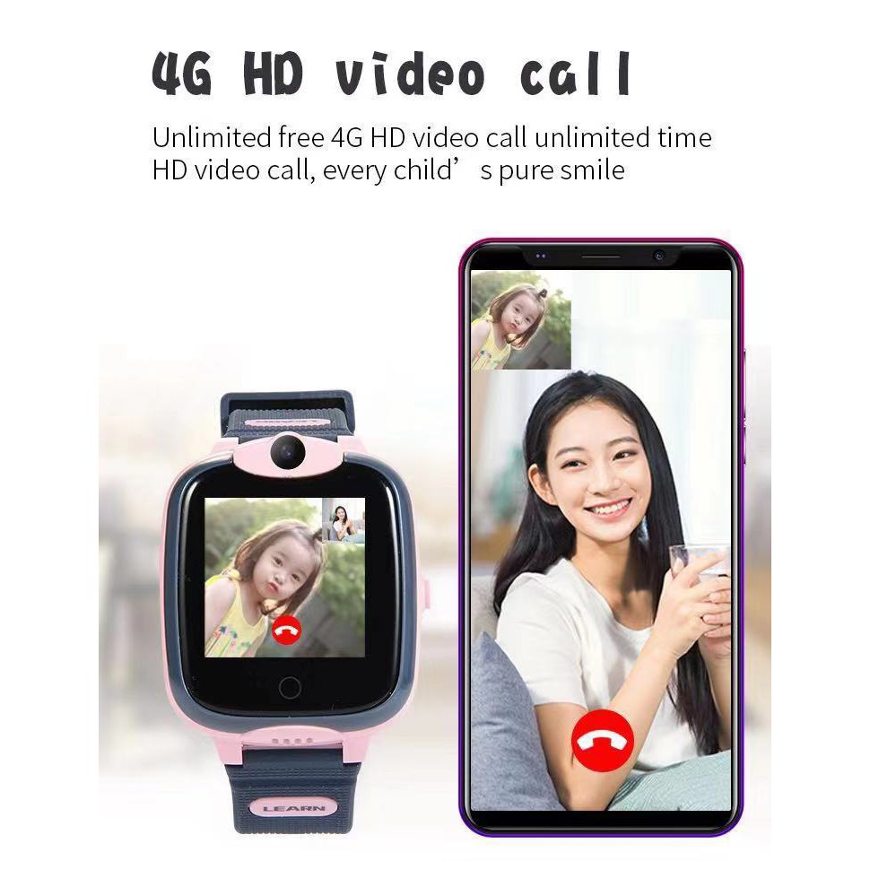 applewatch series 6◇☼❁[Smart Watch Kid] นาฬิกาเด็กใส่ซิมได้ รองรับ 4G รุ่น W68 กันน้ำได้ลึก IP67 สามารถวีดีโอคอลได้ และส
