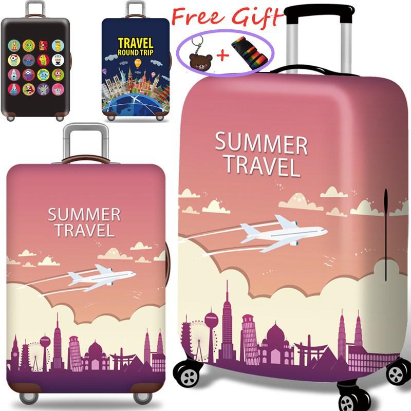 ผ้าคลุมกระเป๋าเดินทาง Luggage cover สไตล์เมืองที่น่ารัก 20/24/28/32 Inch