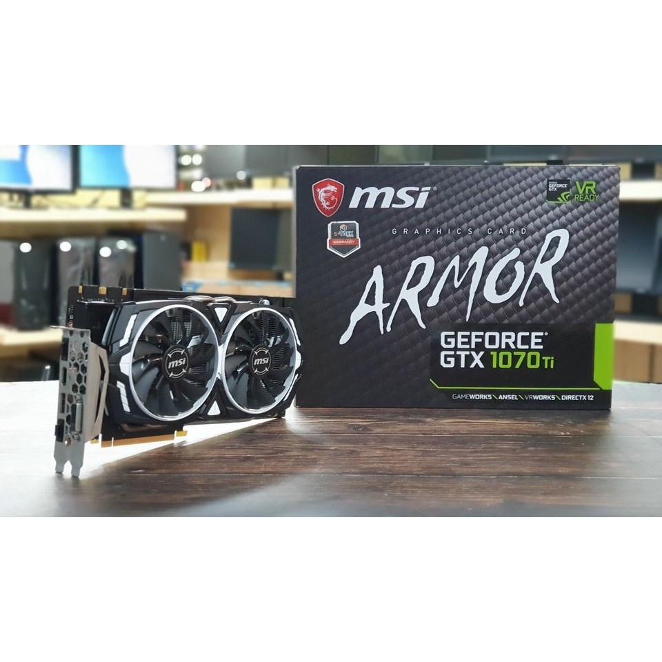 การ์ดจอ MSI GTX 1070Ti ARMOR 8 GB มือสอง มีกล่อง มีประกันศูนย์