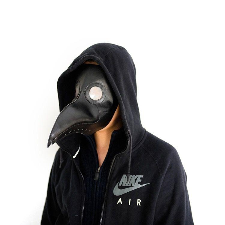 halloween ฮาโลวีนCOSเสื้อผ้าอบไอน้ำพังก์ยุคกลางอุณหภูมิตัวเมียแพทย์จะงอยปากหน้ากาก SCP049สีดำอีกาหมวก o3zH