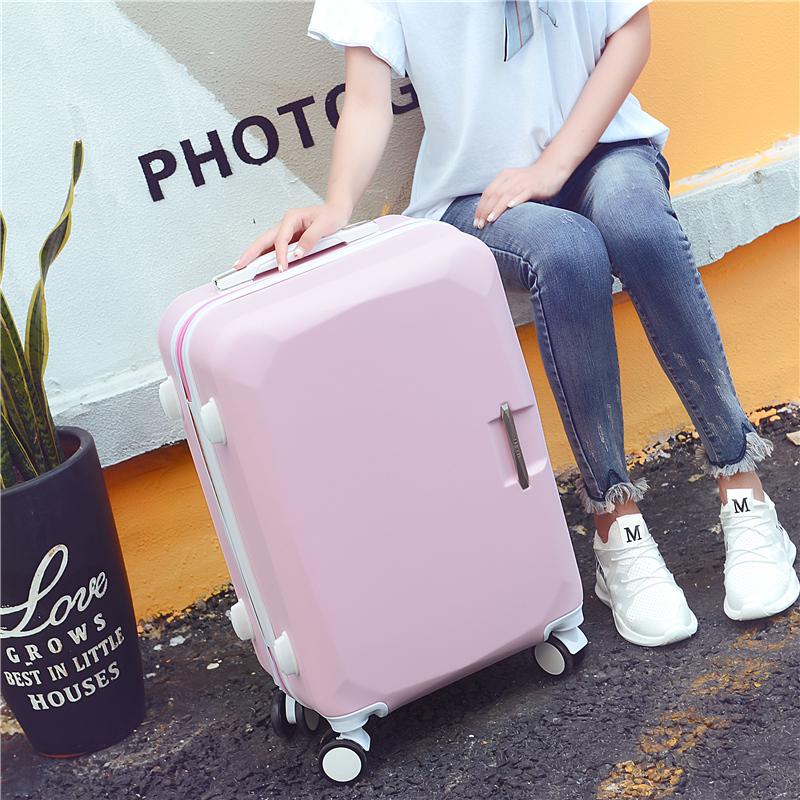 """★♥กระเป๋าเดินทางของผู้หญิงสุทธิสีแดงกระเป๋าลากTikTokน่ารักแม่และเด็กกระเป๋าล้อสากลกระเป๋าเดินทาง26""""นักเรียน24Mi Ma Bao"""