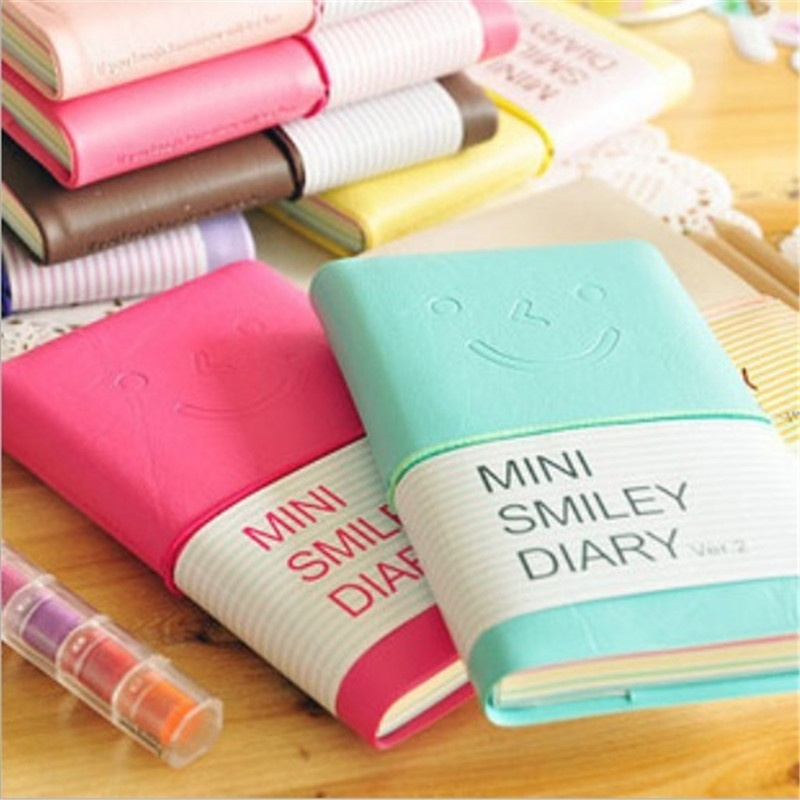 Office School Supplies Stationery Diary Memo Notebook Writing Pads Smile Note Book Diary Books