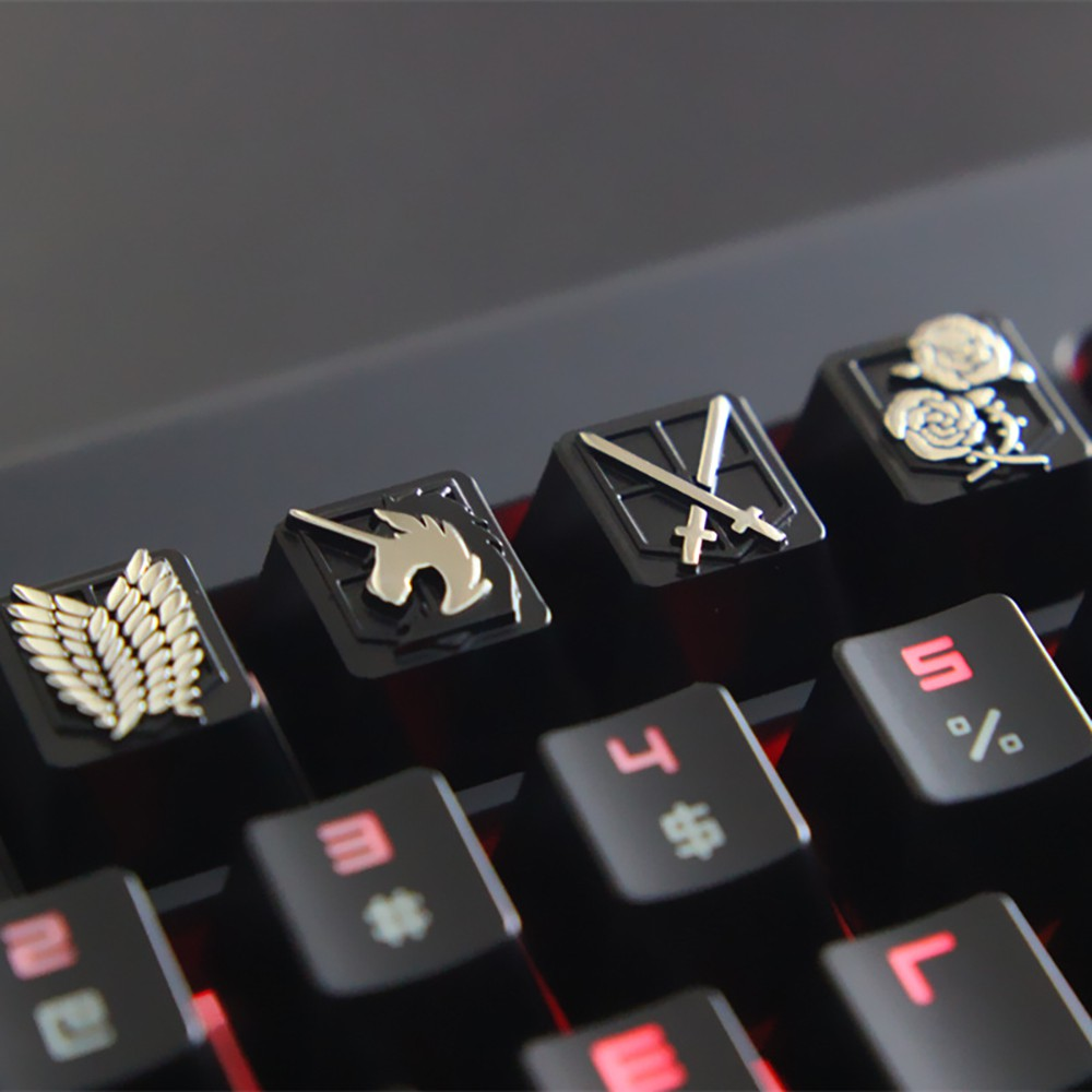 Mechanical Keyboard Keyca Keystone Anime Attack on Titan Zinc Aluminum Alloy R4 Height Customize DIY Game for C