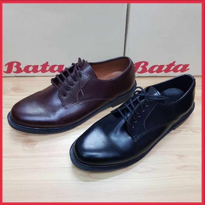 รองเท้าหนัง Bata ผูกเชือก สีดำ สีน้ำตาล (37-46).