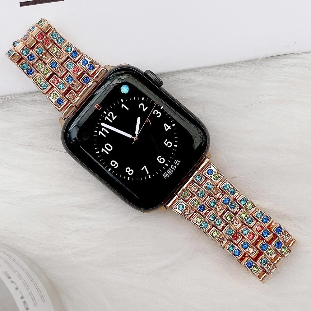 สาย applewatch Luxury สายนาฬิกา Apple Watch Straps Diamonds Bling เหล็กกล้าไร้สนิม สาย Applewatch Series 6 5 4 3, Apple