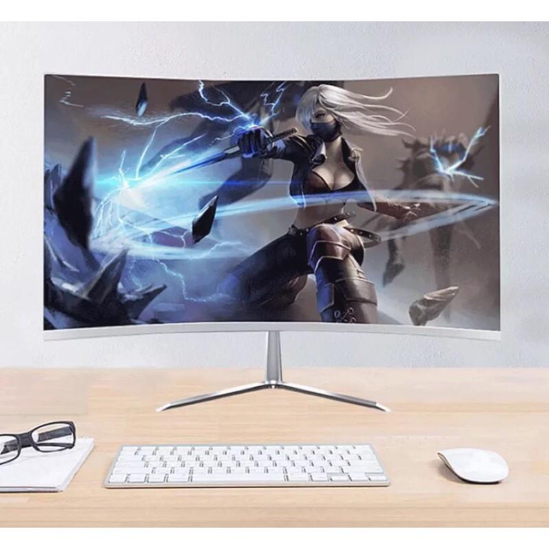 จอคอม🌟จอโค้ง ขอบบาง 24นิ้ว จอคอมพิวเตอร์ โค้ง จอมอนิเตอร์ จอโค้ง หน้าจอแสดงผล 75HZ ขอบ บางเฉียบ HD LED FHD