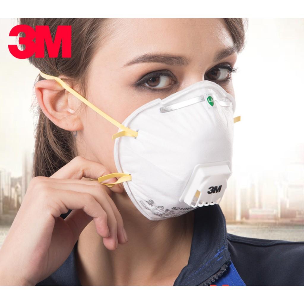 3m หน้ากาก N95 8210v Mask 3 M 1 กล่องป้องกันไวรัส N95 95