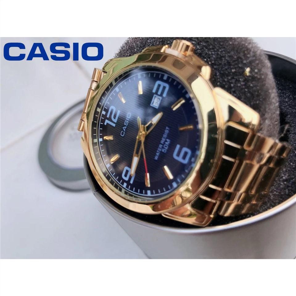 นาฬิกาข้อมือผู้หญิง, แฟชั่นนาฬิกา bgd✠CASIO STANDARD นาฬิกาผู้ชาย สายสแตนเลส รุ่น MTP-1314D1