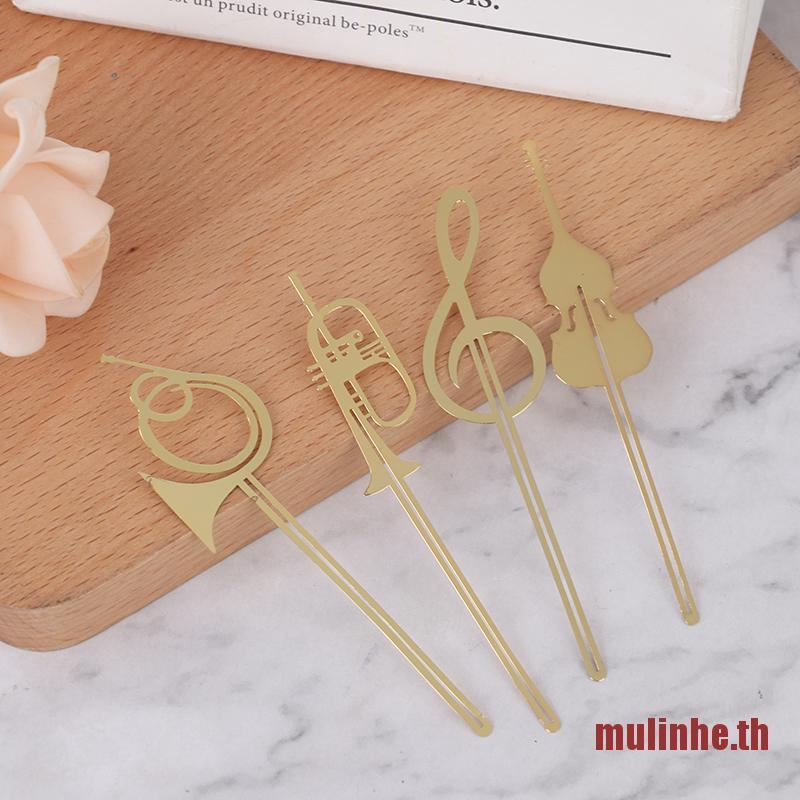 Mulinhe ที่คั่นหนังสือโลหะสีทองสําหรับ Books Paper Cl