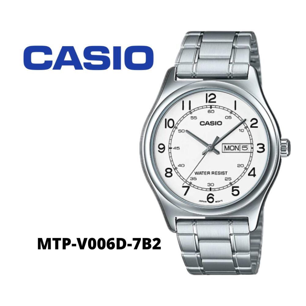 จัดส่งฟรีนาฬิกาลำลอง Casio Standard นาฬิกาข้อมือผู้ชาย สายสแตนเลส รุ่น MTP-V006D ประกันศูนย์CASIO1 ปี จากร้าน M&F888B