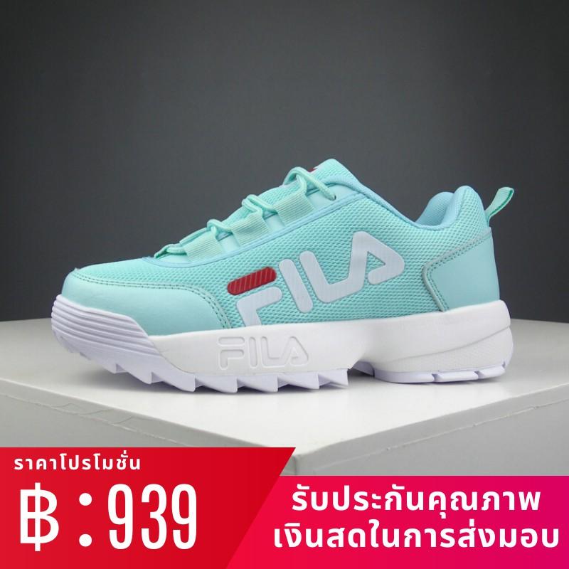 รองเท้าวิ่ง Fila FILA Disruptor รองเท้าผ้าใบแฟชั่นลำลองสำหรับผู้หญิง