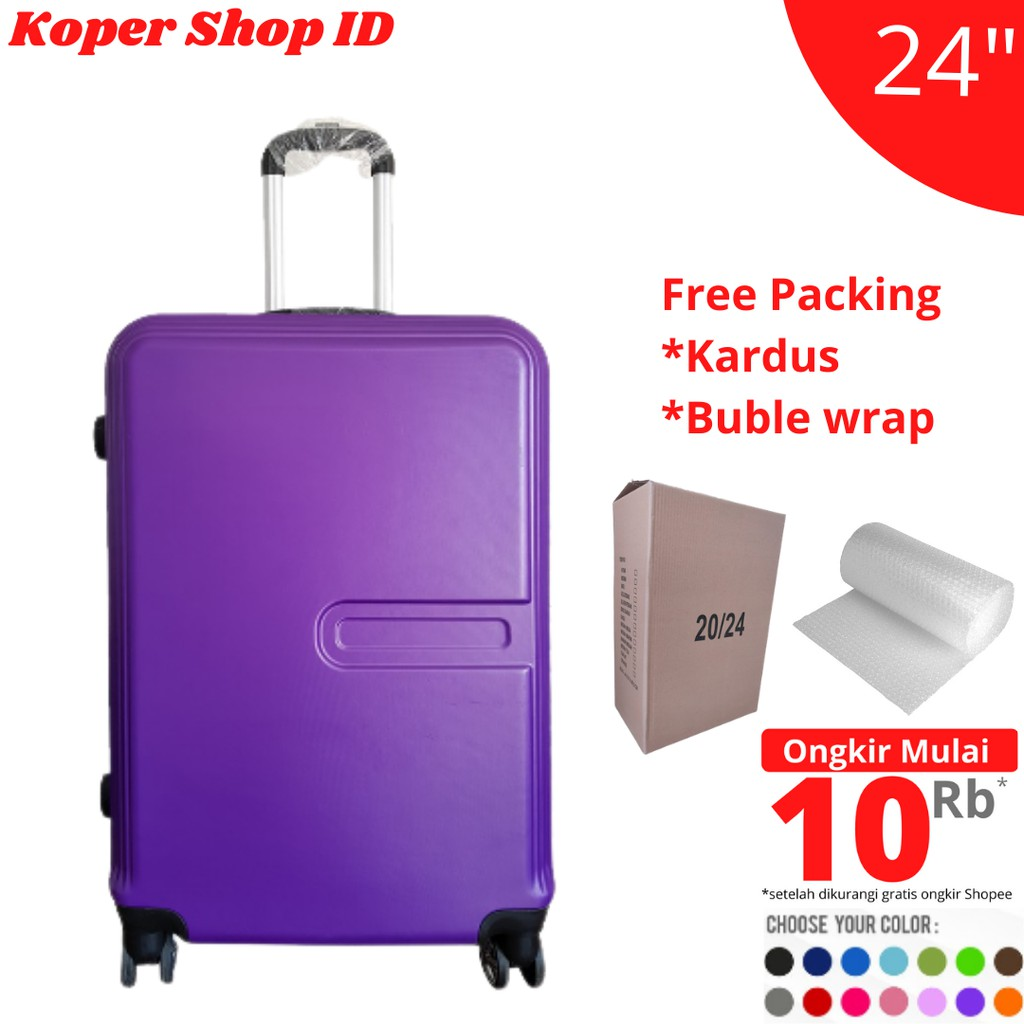กระเป๋าเดินทางขนาด 24 นิ้ว Polo Robert Ansell Luggage Model 2026 Abs สีม่วง