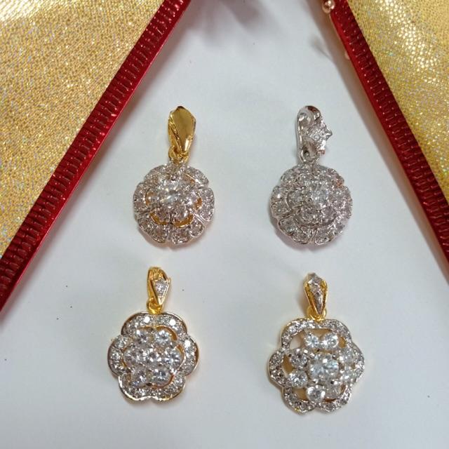 จี้ เพชร cz คละแบบ ชุด C ชุบทองไมครอน และทองคำขาว ราคาพิเศษ