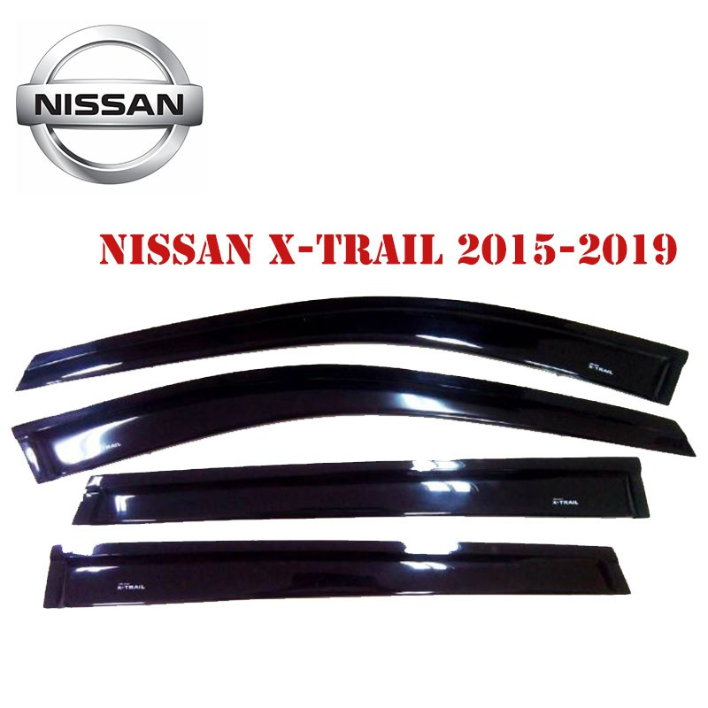 Nissan X-Trail 2015-2019 สีดำ กันสาด กันสาดรถยนต์ คิ้วกันสาด คิ้วประตู
